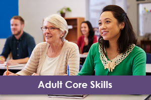 LearningExpress Library Adult Core Skills logo