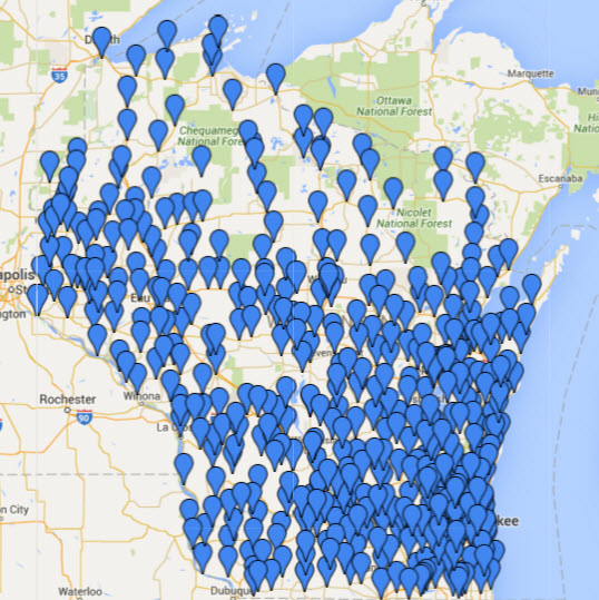 Over 470 locations in Wisconsin use BadgerLink (as determined by Google Analytics)