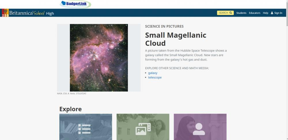 Britannica School - High Home Page with New Look