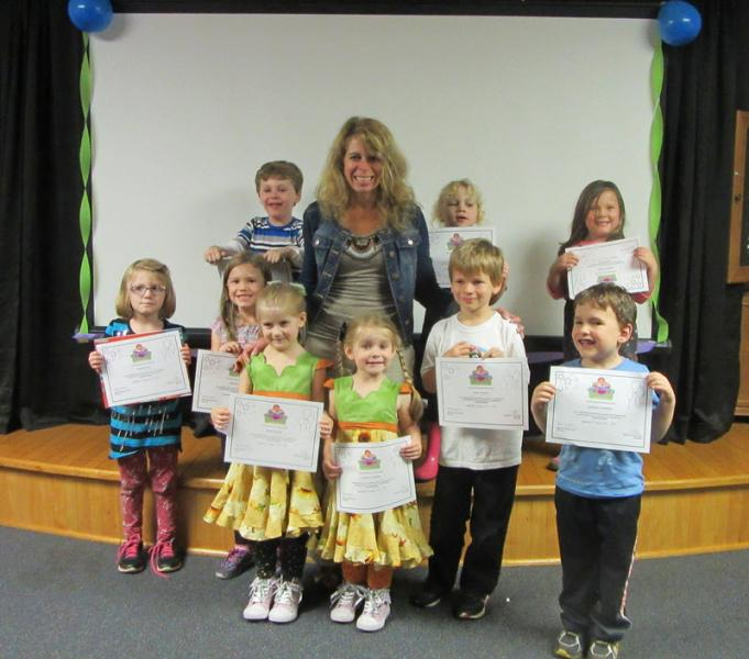 Kids with certificates