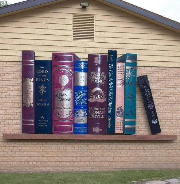 Book Shelf Mural