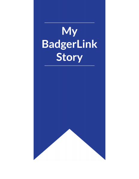 My BadgerLink Story ribbon