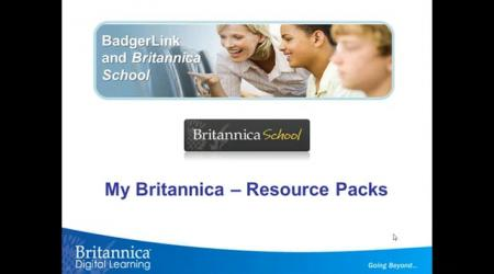 My Britannica - Resource Packs