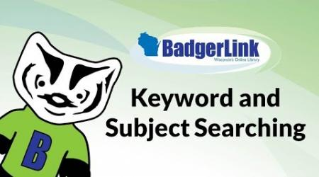 Keyword and Subject Searching in EBSCO