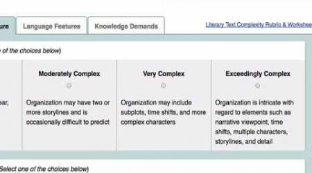 Text Complexity Rubrics on TeachingBooks